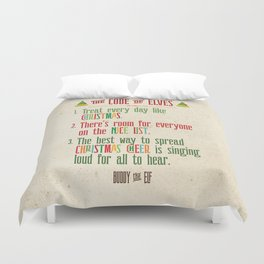 Buddy the Elf! The Code of Elves Duvet Cover