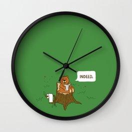 Bear Business Wall Clock