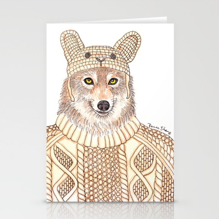 Wolf in Sheep Clothing Stationery Cards