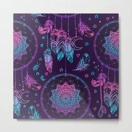 Ultra Violet Dreams, Dream Catcher Enchantment Metal Print