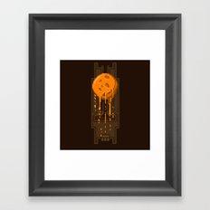 Pixel Planets : Mars Framed Art Print