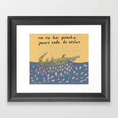 A River Full of Piranhas Framed Art Print