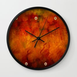 Rugged Stars Wall Clock