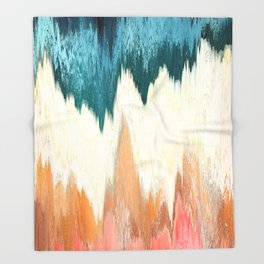 Pixel Sorting 55 Throw Blanket