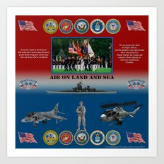 Armed Forces poster #AmericanPride #sot Art Print