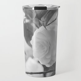 Once in a While - Black and White Flower Travel Mug
