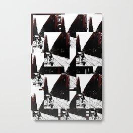 Maroon Bike Metal Print