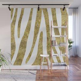 Golden exotics - Zebra and crisp white Wall Mural