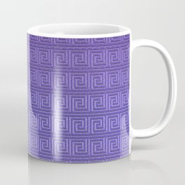 Purple greek key Coffee Mug