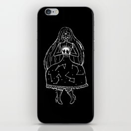 The Clairvoyant (black) iPhone Skin