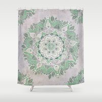 Spring Rain Mandala Shower Curtain