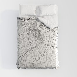 Shanghai White Map Comforters