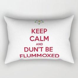 Keep Calm and Dun't Be Flummoxed Rectangular Pillow
