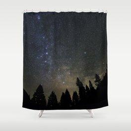 Orionids over Big Sky Shower Curtain