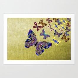 Flight Of The Butterflies Art Print