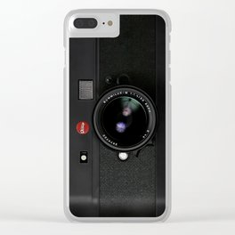 Vintage Black Camera Clear iPhone Case