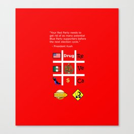 Red Party Canvas Print