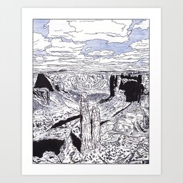In the Grand Canyon Art Print