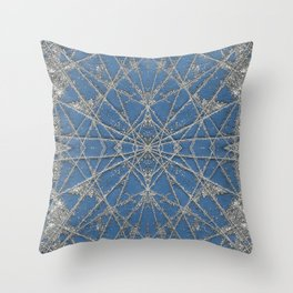 Snowflake Blue Throw Pillow