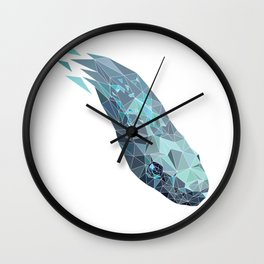 polygonal snake Wall Clock