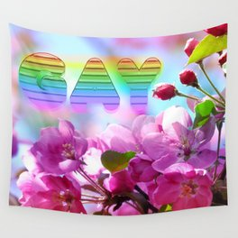 gay flowers Wall Tapestry