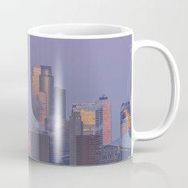 Supermoon Setting over Minneapolis Illuminated by Dawn Coffee Mug