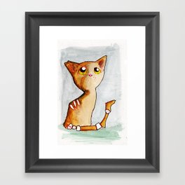 Orange Zombie Kitty Framed Art Print
