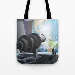 Horizon Lunary Colony Travel Poster Tote Bag