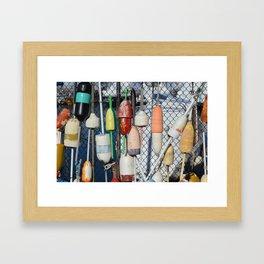 Buoys at Boston Harbor Framed Art Print