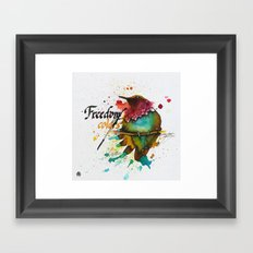Freedom of colors Framed Art Print