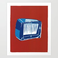 radio Art Prints featuring Radio! by Cai Sepulis