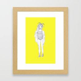 Goatgirl Framed Art Print
