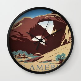 Vintage poster - Southwest US Wall Clock