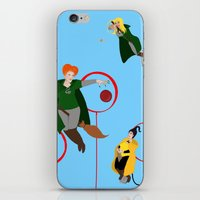 quidditch iPhone & iPod Skins featuring Quidditch Sisters  by Katá Mart