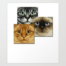 Cool Cat Shirt -Cat Art Shirt For Cat Lovers Art Print