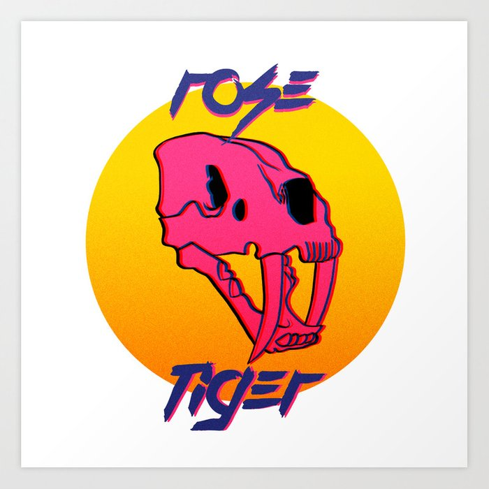 Rose Tiger Art Print