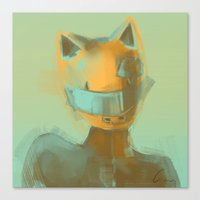 durarara Canvas Prints featuring Celty by emametlo