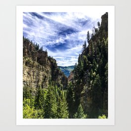 Hanging Lake Trail Art Print