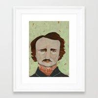 poe Framed Art Prints featuring Poe. by Arrolynn
