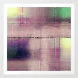 Dusk Pastel Pattern design Art Print