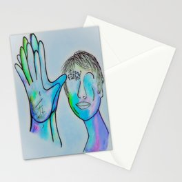 ASL Grandfather in Blue Overtones Stationery Cards
