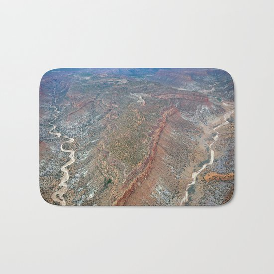 Grand Canyon bird's eye view #2 Bath Mat