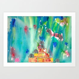 1 Penny the Pink Elephant Art Print