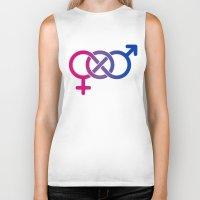bisexual Biker Tanks featuring Bisexual by Clara Hollins