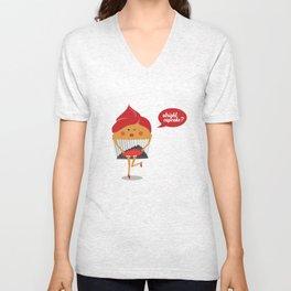 Cheeky Cupcake! Unisex V-Neck
