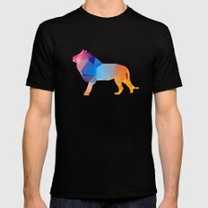 Glass Animal Series - Lion Mens Fitted Tee Black LARGE