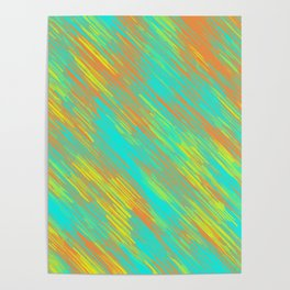 green blue orange and yellow painting texture abstract background Poster