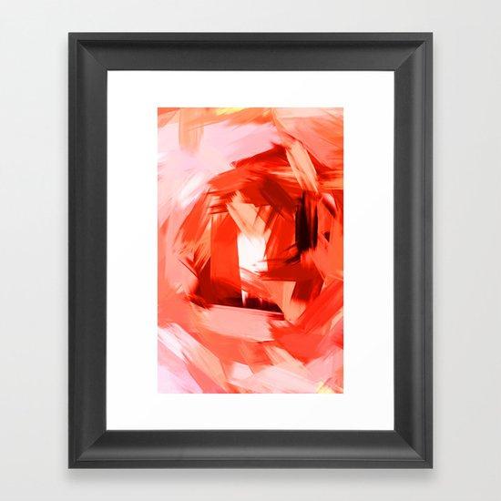 BLOSSOMS - COLORS II Framed Art Print
