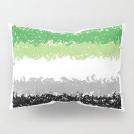 Aromantic Flag Swirls Style Graphic Design Pillow Sham