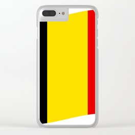 Belgian flag Clear iPhone Case